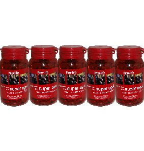 Acai berry capsules, 5 pack