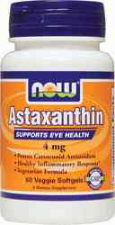 Astaxanthin 4mg, 60 capsules by NOW