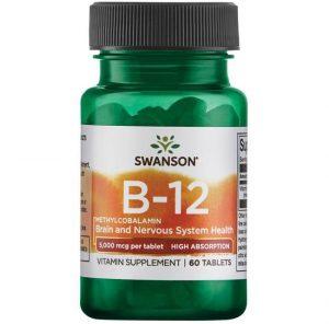 B12 Vitamin B-12 tablets, 60, 5000mcg