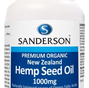 Hemp Seed Oil 1000mg Softgels x 100 Premium Organic New Zealand